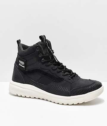 Vans UltraRange Hi DX Zipper Black & Marshmallow Shoes