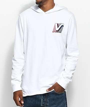 Vans Van Doren Hooded Long Sleeve White T-Shirt