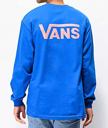 Vans Venice Pits Drop Blue Long Sleeve T-Shirt