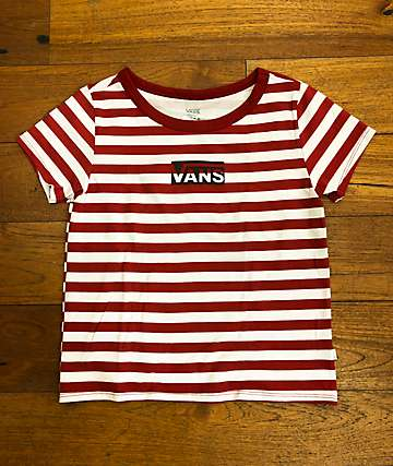 Vans Vert Skimmer Red & White Striped T-Shirt