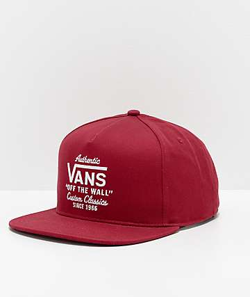 Vans Wabash Rhumba Red Snapback Hat b7bbb4848e4
