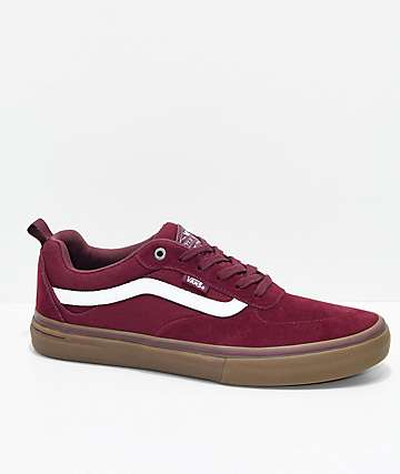 maroon vans shoes