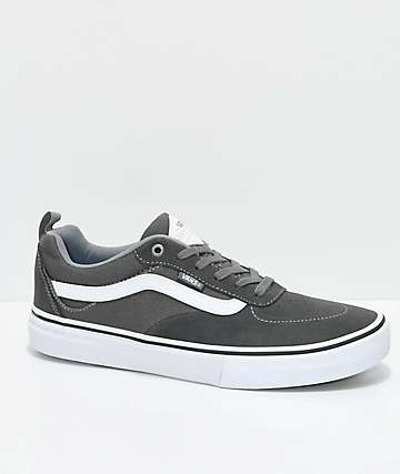 Vans Walker Pro Gunmetal, Grey and White Skate Shoes