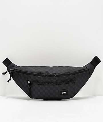 Vans Ward Black & Charcoal Checker Crossbody Bag