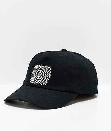 Vans Warped Check Black Strapback Hat