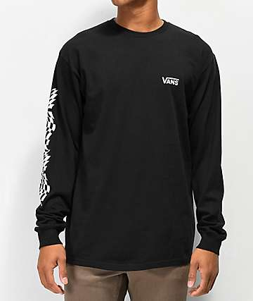 Vans Warped Check Sleeve Black Long Sleeve T-Shirt