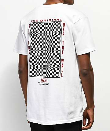 Vans Warped Check White T-Shirt