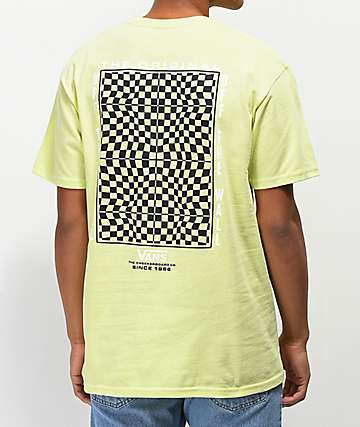 Vans Warped Checkerboard Sunray Yellow T-Shirt