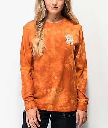 Vans Washed Rust Tie Dye Long Sleeve T-Shirt