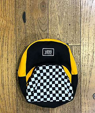 Vans Webbed Gold, Black & Checkerboard Mini Backpack