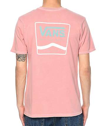 Vans White & Blue Side Stripe Rose Dyed T-Shirt