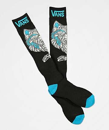 Vans Wolf calcetines de snowboard de acrílico negro