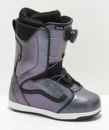 Vans Womens Encore Iridescent Boa Snowboard Boots