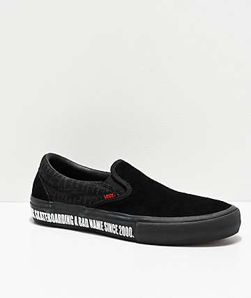 Vans X Baker Slip-On Pro Black & Red Skate Shoes