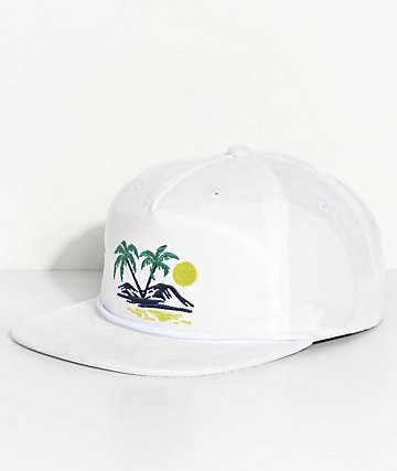 Vans Yelser White Unstructured Snapback Hat