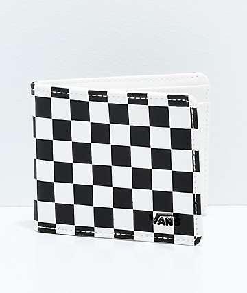 Vans cartera plegable a cuadros en negro y blanco