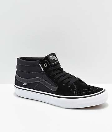 bfd2809be7 Vans x Anti-Hero Grosso Sk8-Mid Pro Black Skate Shoes