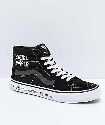 Vans x Cult Sk8-Hi Pro zapatos de skate en negro, gris y blanco