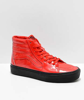 d38b3655be Vans x David Bowie Sk8-Hi Platform Ziggy Stardust Red Skate Shoes