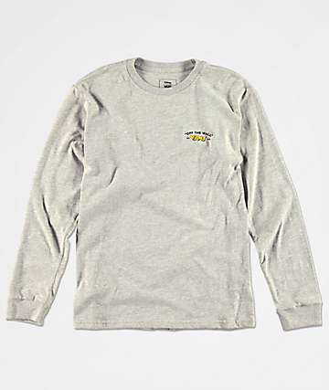Vans x Disney Boys Mickey Grey Long Sleeve T-Shirt