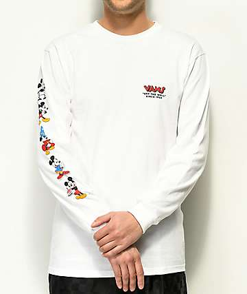 Vans x Disney Mickey 90th White Long Sleeve T-Shirt