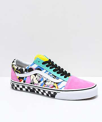 Vans x Disney Old Skool 80's Mickey Skate Shoes