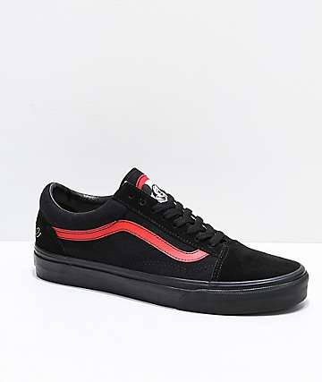 Vans x Disney Old Skool Mickey Mouse Club Black Skate Shoes