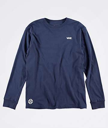 Vans x Independent Boys Navy Long Sleeve T-Shirt
