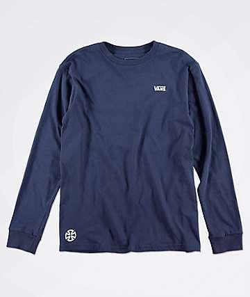 8c20edb89 Vans x Independent Boys Navy Long Sleeve T-Shirt