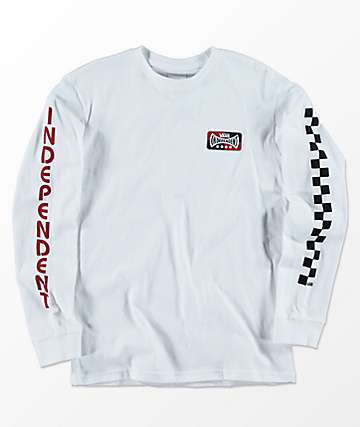 Vans x Independent Boys White Long Sleeve T-Shirt