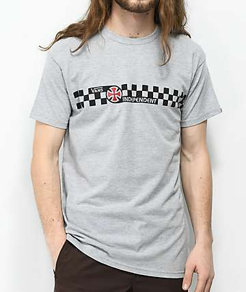 Vans x Independent Check Heather Grey T-Shirt