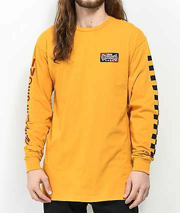 Vans x Independent Check Sunflower Long Sleeve T-Shirt