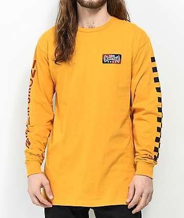 Vans x Independent Check Sunflower camiseta amarilla de manga larga