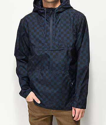 Vans x Independent Checkerboard Blue & Black Anorak Jacket