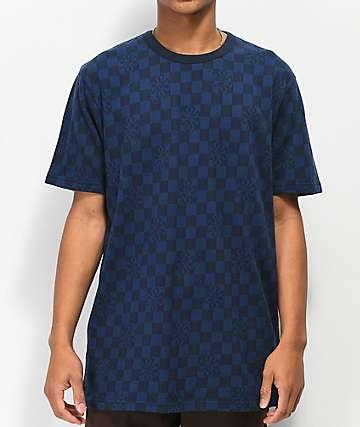 Vans x Independent Checkered Black & Blue T-Shirt