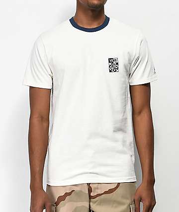 Vans x Independent Checkered Cream & Navy T-Shirt