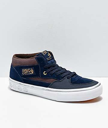 e810e182072c Vans x Independent Half-Cab Pro Dress Blue Skate Shoes