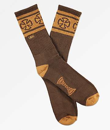 Vans x Independent II Brown Crew Socks