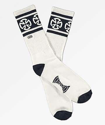 Vans x Independent II calcetines blancos y azules