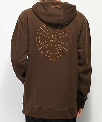 Vans x Independent Iron Cross sudadera con capucha marrón