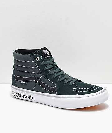 Vans x Independent Sk8-Hi Pro Spruce Green Skate Shoes