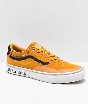 c0e89a8f9b6 Vans x Independent TNT ADV Prototype Sunflower   White Skate Shoes