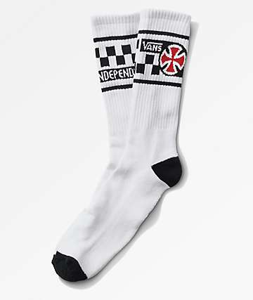 Vans x Independent White Crew Socks