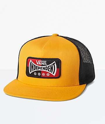 5fea38235db Vans x Independent Yellow Trucker Hat