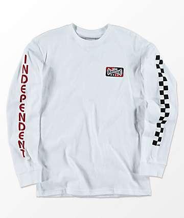 Vans x Independent camiseta blanca de manga larga para niños