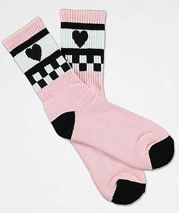 Vans x Lazy Oaf Almond Blossom Pink Crew Socks