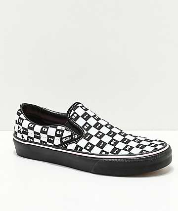 Vans x Lazy Oaf Slip-On Checkerboard Eyes Shoes