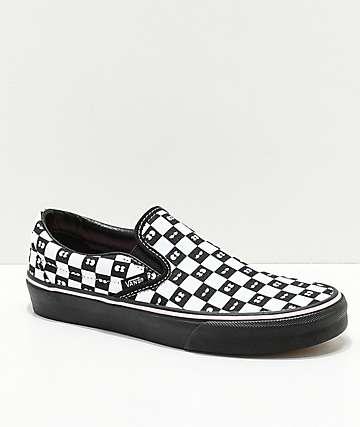 Vans x Lazy Oaf Slip-On zapatos a cuadros con ojos