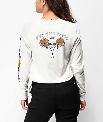 Vans x Lizzie Chrysanthemum Cream Long Sleeve T-Shirt
