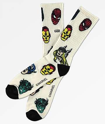 Vans x Marvel Avengers calcetines blancos